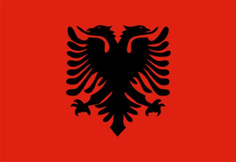 Albanian Flag Outline by Flag Of Albania Clip At Clker Vector Clip Royalty Free Domain