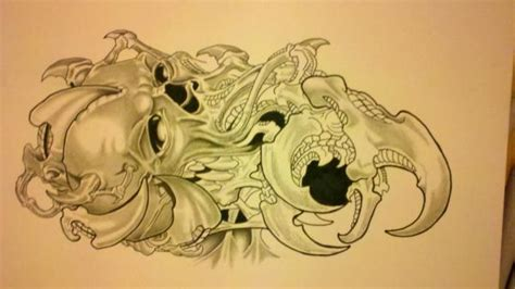 tattoo flash art zombie pencil sketches of nature of sceneries landscapes of