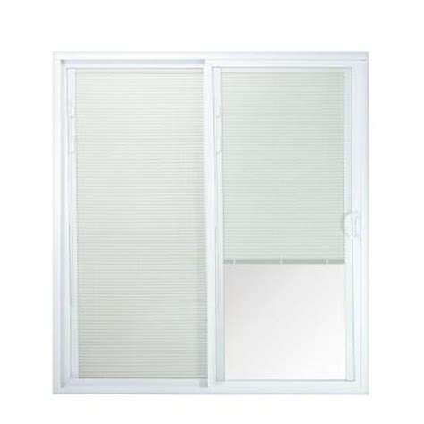 Patio Door Blinds At Home Depot by American Craftsman 50 Series White Vinyl Right