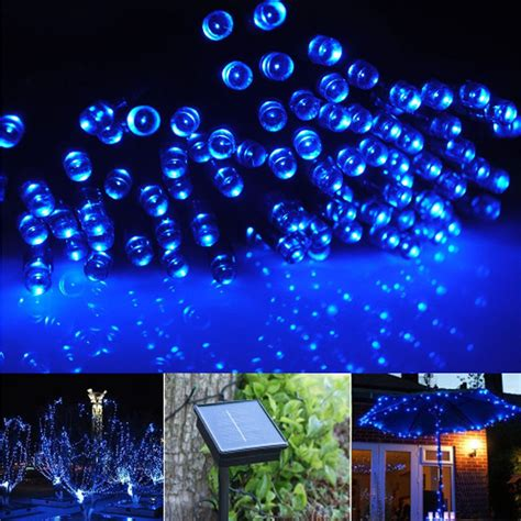 fairy string lights 20m 100 led solar charging christmas