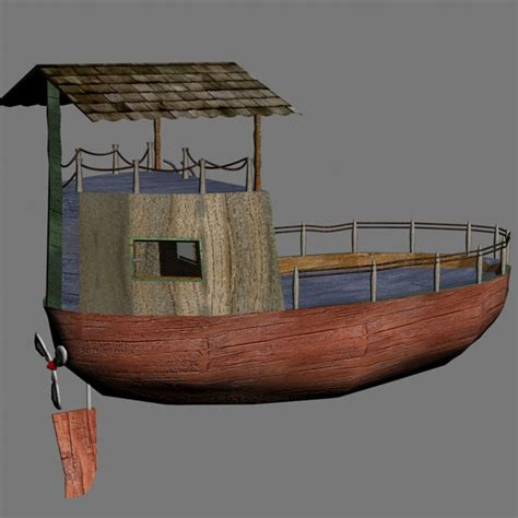 cartoon boat 3d model cartoon boat 3d 3ds