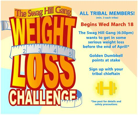 a weight loss challenge hit fit tribal weight loss challenge
