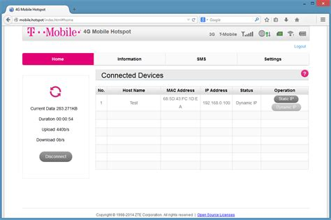 login home page mobile i admin page t mobile 4g hotspot z64 t mobile support