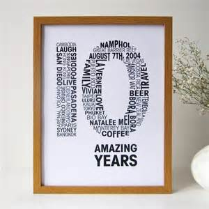 personalised anniversary print by mrs l cards notonthehighstreet