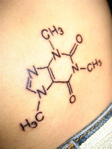 caffeine tattoo ya that s right i m a chem who would get a of