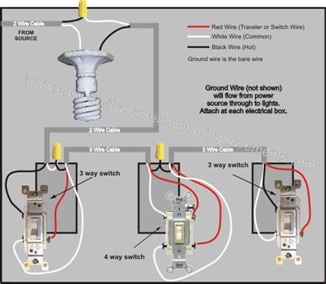 4 Way Switch Wiring Diagram Basic Light Fixture Wiring