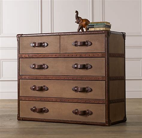 steamer trunk dresser restoration hardware cherrry bubbins 31 days to settle in after a move new