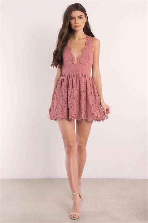 Ij Lg Dress Lawren skater dress scalloped dress wine lace overlay dress 68 tobi us