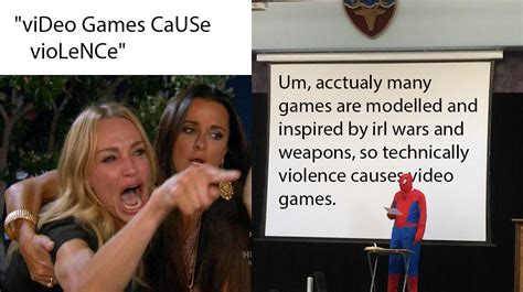 memes mocking people   video games  violence