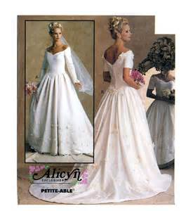 wedding dress patterns to sew wedding dress sewing pattern mccall s 8563 bust 32 1 2 to