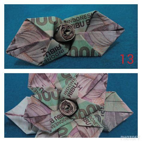 cara membuat origami bunga dari uang crafty patty tutorial mawar dari uang kertas