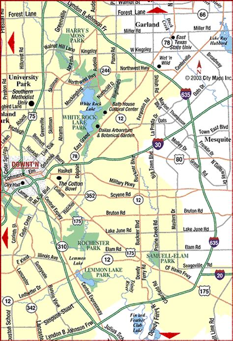 dallas texas road map road map of metro dallas east dallas texas aaccessmaps