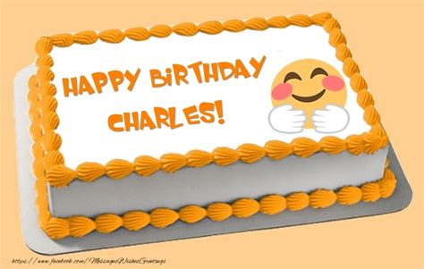 Find For Free By Name And Birthday Happy Birthday Charles Cake Greetings Cards For Birthday For Charles