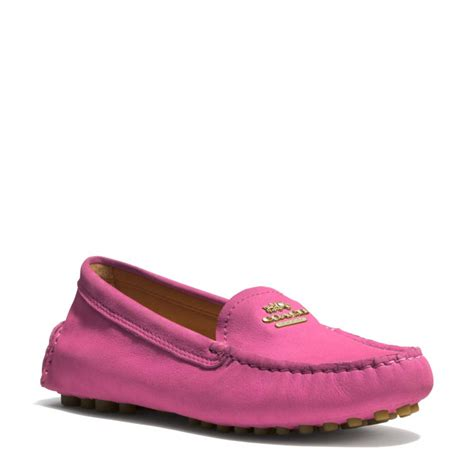 pink loafers coach nancy loafer in pink fuschia lyst