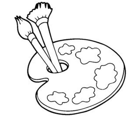 artist palette coloring page coloring pages