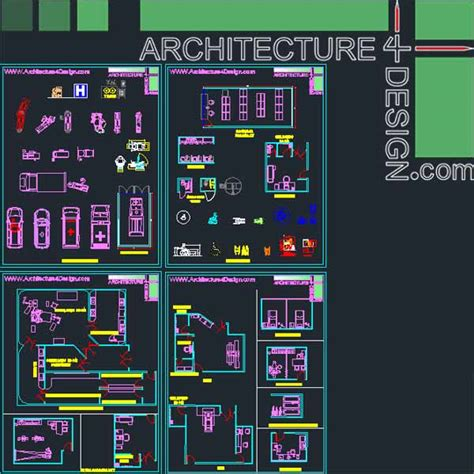Office Floor Plan Symbols hospital furniture for autocad dwg file architecture