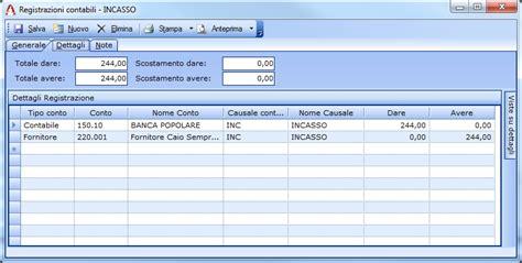 storno scrittura banca registrazione delle note di credito fornitori