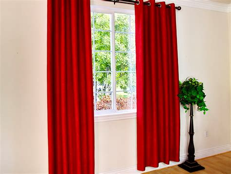 red curtain panels red grommet curtain panels home design ideas