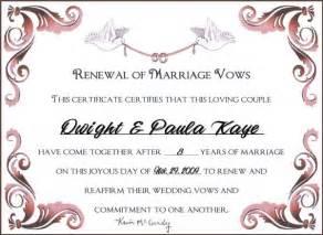 wedding vow renewal certificates free like success