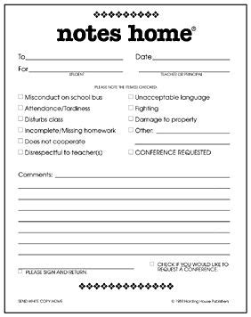 parent note to school template notes home discipline of a misc ideas