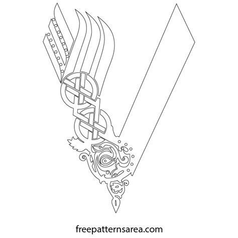 viking pattern vector the vikings printable logo symbol desing freepatternsarea