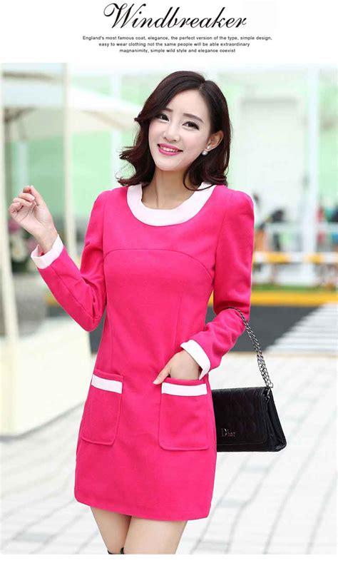 Dress Import Murah A30906 Pink dress wanita lucu terbaru warna pink model terbaru