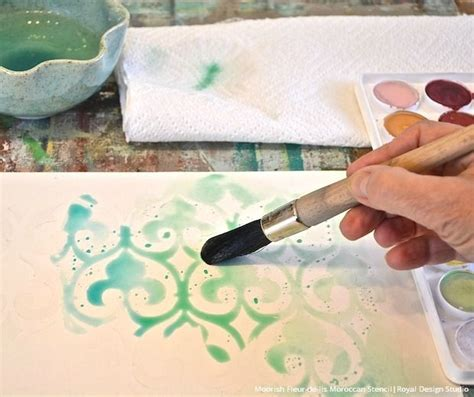 watercolor writing tutorial 101 best stenciled canvas art images on pinterest royal