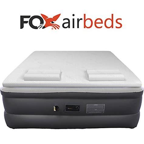 top fox air beds plush high rise air mattress with premium gel memory foam