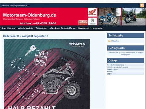Honda Motorrad Oldenburg by Motorteam Ralf Schwerin Gmbh In Oldenburg In Holstein