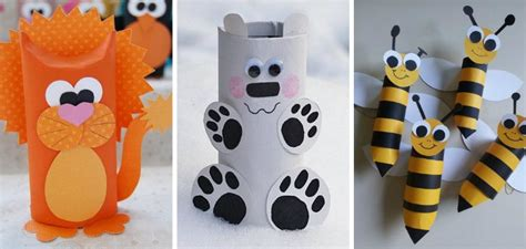 Animal Paper Crafts - diy animal craft ideas with toilet paper rolls total