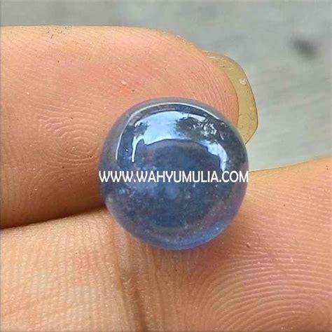 Batu Akik Biru Merah 39 6 Ct batu blue safir asli kode 291 wahyu mulia