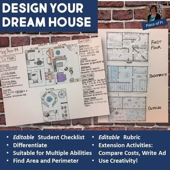 design dream house math project resource round up personal goals editing practice