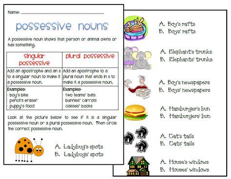 Singular Possessive Nouns Worksheet by December Worksheets Fourth Grade New Calendar Template Site