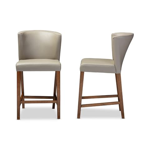 Leather Counter Bar Stools by Bevel Gray Leather Counter Stool Modern Furniture