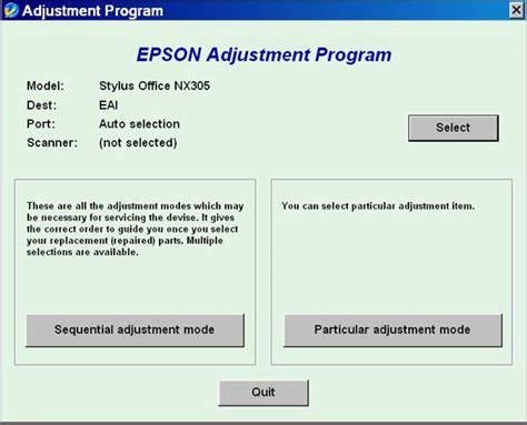 adjustment program or resetter epson tx210 adjustment program resetter l120 parts