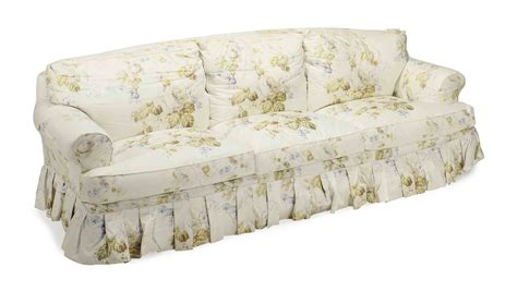 chintz sofa a pair of chintz upholstered three seat sofas 20th