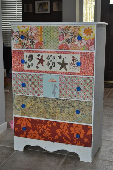 Decoupage Dressers - decoupaged dresser for the home