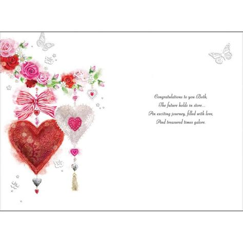 Hearts & Butterflies On Your Engagement Card   Karenza Paperie