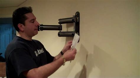 hang l on wall how to install an articulating mount and in wall power kit