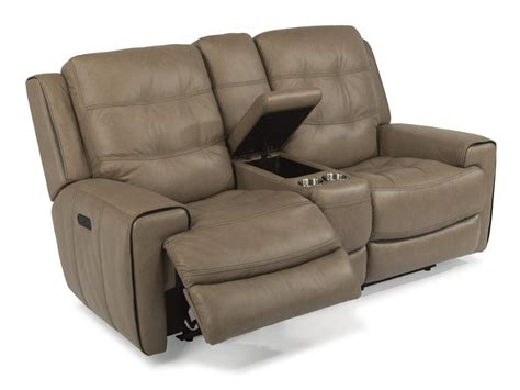 power reclining sofa with power headrest flexsteel living room leather power reclining loveseat