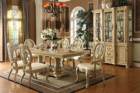 solid wood formal dining room sets coronado antique white finish solid wood double pedestal