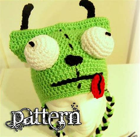 amigurumi gir pattern gir invader zim crochet hat pattern crafting