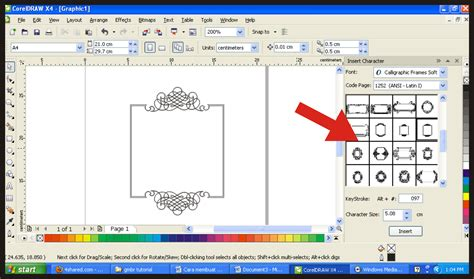 cara membuat bingkai undangan dengan corel draw x3 border undangan hd joy studio design gallery best design