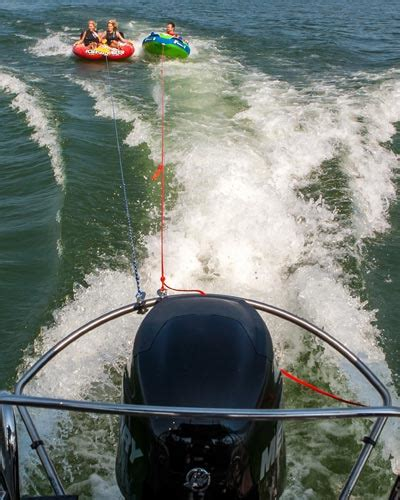 towing a tube with a boat turboswing ski tow bar for outboards pull tubes