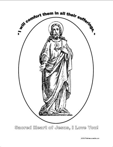sacred heart coloring page that resource site notebooking sheets to focus on the