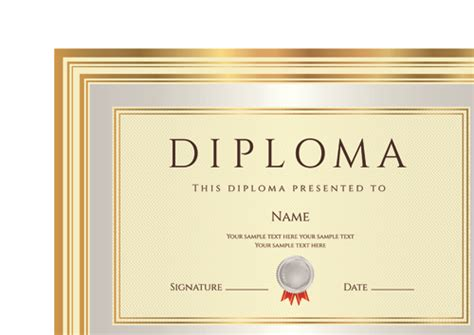 diploma design template gold diploma cover template 02 vector cover free