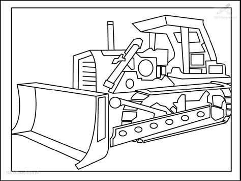 Bulldozer Picture Az Coloring Pages Bulldozer Coloring Pages
