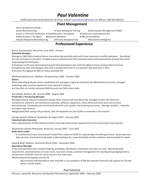 Master Production Scheduler Sle Resume by Paul Resume