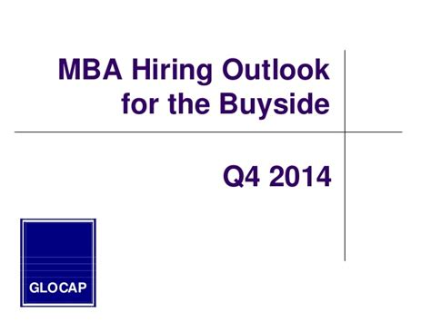 Mba For Venture Capital by 2014 Mba Guide To Hiring In The Equity Venture