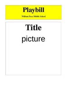 Playbill Template by Playbill Sle For Students To Fill In Student